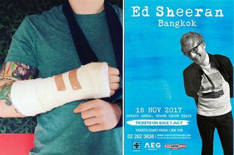 ed sheeran bangkok ed sheeran bangkok concert in doubt bangkok post news