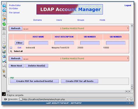 tutorial ldap linux integraci 243 n de redes con openldap samba cups y pykota