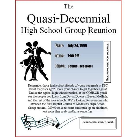high school reunion invitation template high school reunion flyers a selection of