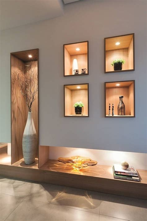 wall designs for hall hall de entrada home salon e gourmet interiores