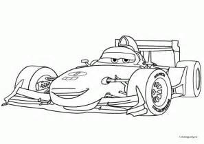 coloring book pages cars 2 francesco bernouilli formula 1 cars 2 da colorare