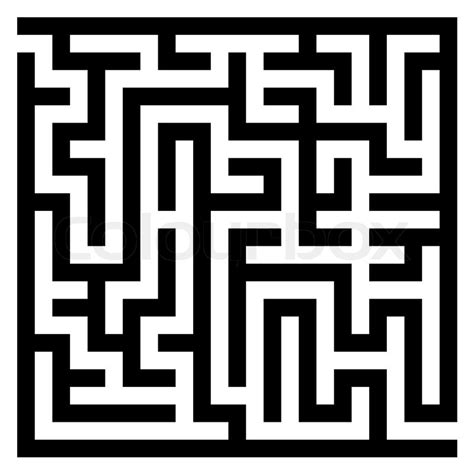 labyrinth template maze labyrinth stock vector colourbox