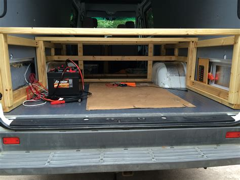 Rv Bed Frame Building A Bed For A Cer Sprinter Cer