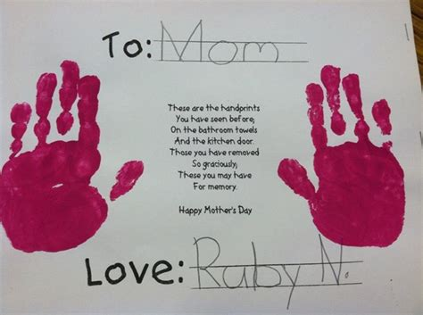 mothers day cards for preschoolers to make it s s day in kindergarten california