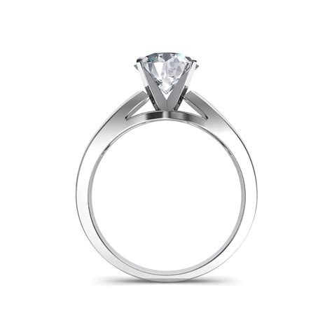 wide band cathedral solitaire engagement ring