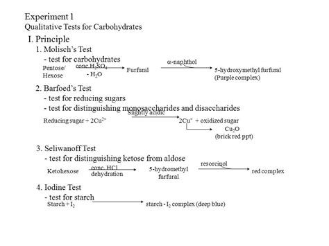test 4 carbohydrates expt 1 qualitative tests for carbohydrates and amino