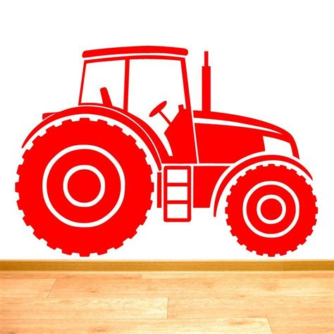How To Apply Wall Art Stickers tractor farm vehicle boys wall sticker art decal vinyl