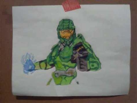 imagenes de halo a lapiz como dibujar al jefe maestro halo con color how to draw