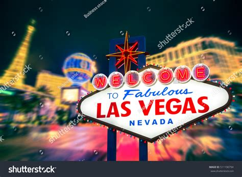 Roadmap To Your Fabulous by Welcome Fabulous Las Vegas Nevada Sign Stock Photo