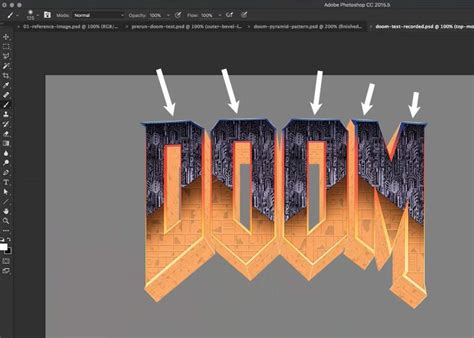 how to design a logo using photoshop cc huge tutorial create the doom 174 logo in photoshop cc