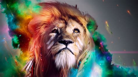 wallpaper colorful lion hipster wallpaper picture image
