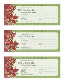 templates certificates holiday gift certificate