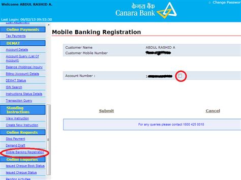 how to register mobile number in canara bank atm sbi banking mobile registration can you on