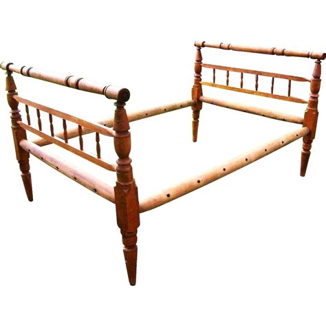 rope bed antique 18th century1700s 1800s fiddleback maple american