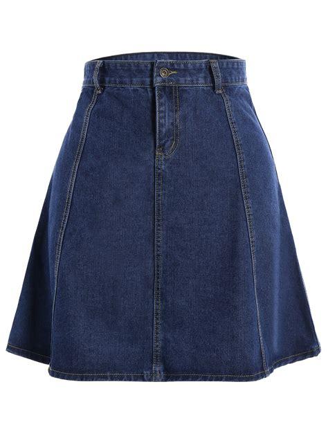 a line denim skirt in blue sammydress