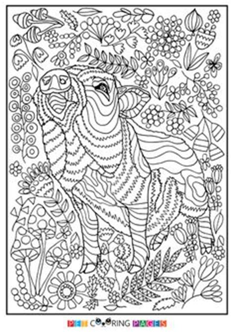 animal coloring page  adults  coloring