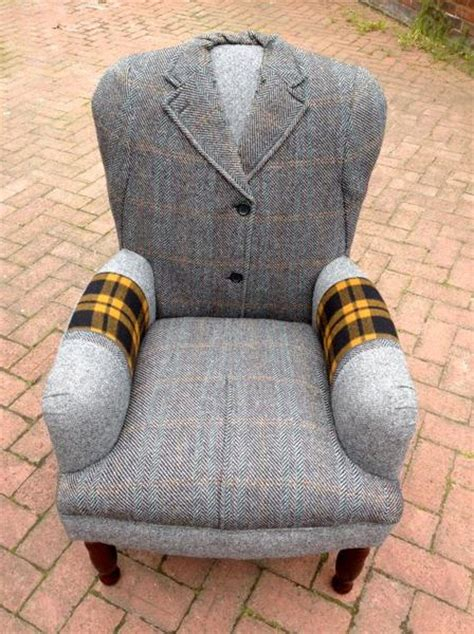 Cool Upholstered Chairs Design Ideas Recycling Wool Coats For Unique Furniture In Vintage Style Craft Ideas