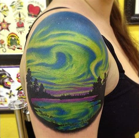 northern lights tattoo northern light tattoos