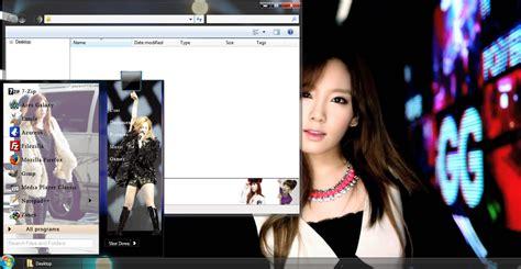 theme kpop windows 8 my kpop 7 taeyeon snsd personal windows 7 theme