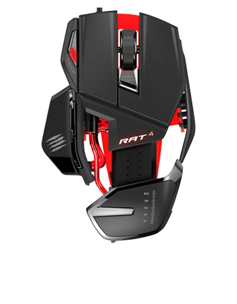 Mouse Gaming Rat mad catz rat 4 black gaming mouse mice keyboards mice
