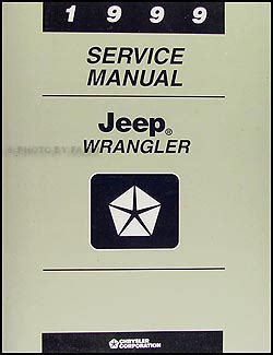 2000 jeep wrangler service shop repair manual 00 factory book mopar new jeep ebay 1999 jeep wrangler repair shop manual original