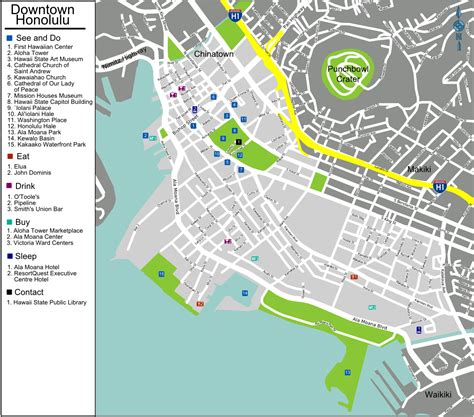 honolulu map file honolulu downtown map png wikimedia commons