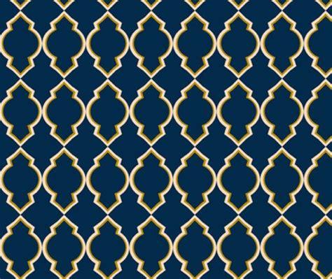 gold lines navy blue wallpaper custom moroccan wallpaper by megancarn on etsy 70 00