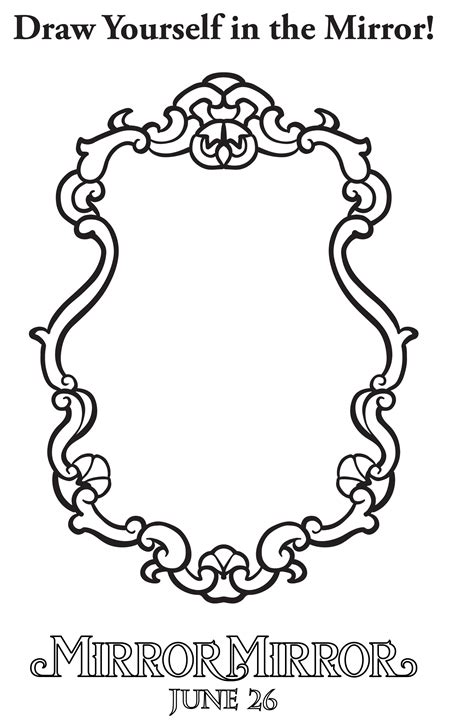 coloring page of held mirror the world s catalog of ideas