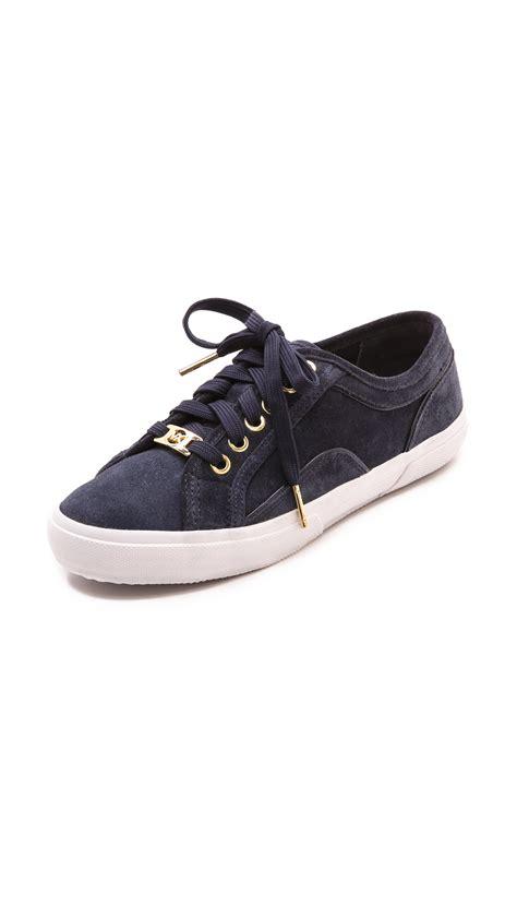 michael kors sneakers for michael michael kors boerum sneakers scarlet in blue lyst