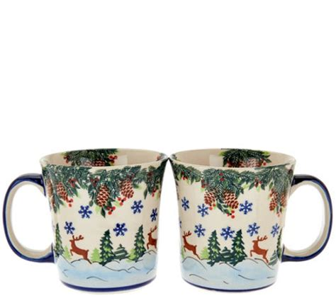Handmade In Poland Pottery - lidia s pottery handmade set of 2 mugs page 1