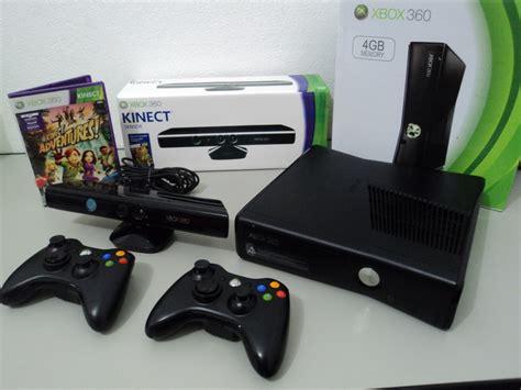 Kinect Xbox 360 Slim Refor xbox 360 slim 2 controles kinect jogos frete