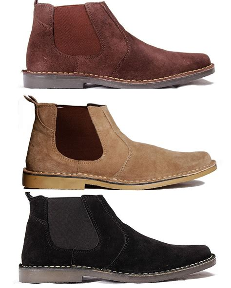 new mens suede chelsea boots gents dealer leather