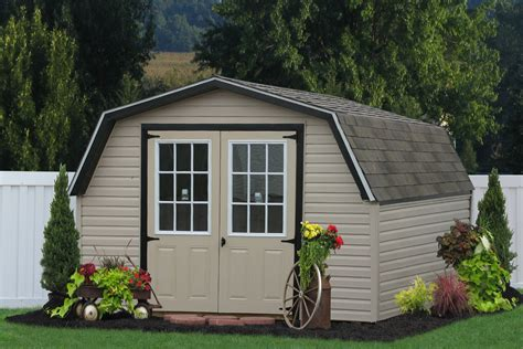 Vinyl Outdoor Sheds Buy Outdoor Vinyl Sheds And Barns Direct From The Amish