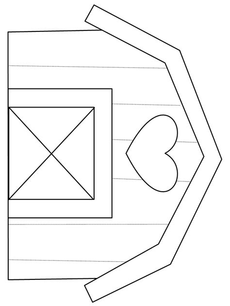 barn template printable barn homes coloring pages coloringpagebook