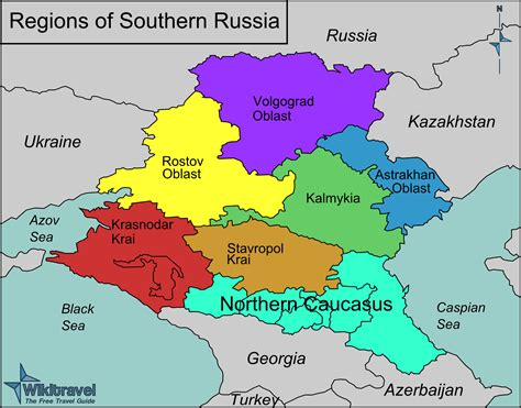 map of south russia south russia map