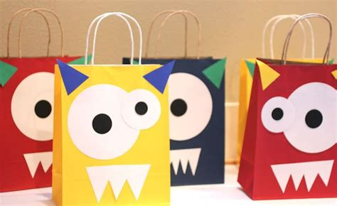 birthday themed storytime monster goodie bags great birthday party activity or