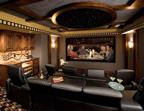 photos of contemporary and luxury home theater interior