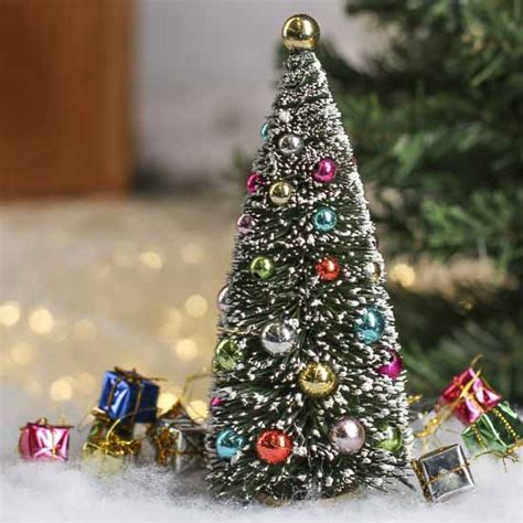 bottle brush christmas trees wholesale frosted bottle brush tree miniatures dollhouse miniatures doll