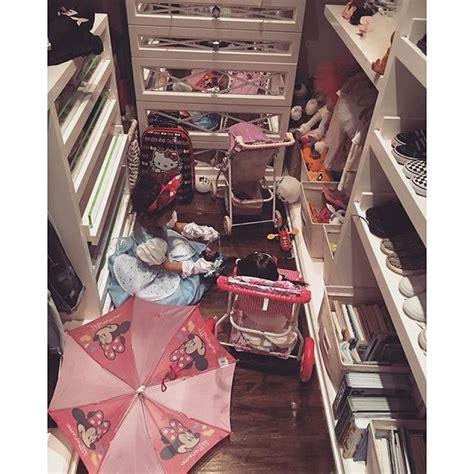 Kris Jenner Closet by Sneak Peek Inside Make Shift Playroom Of S