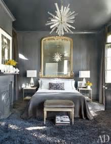 Grey And White Home Decor by Gray Bedroom Eclectic Bedroom Architectural Digest
