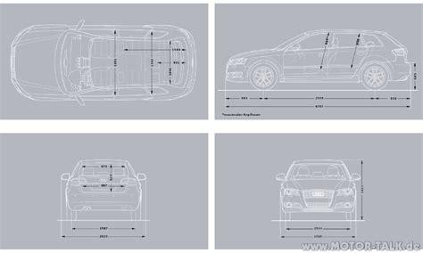 Audi A3 Sportback Abmessungen by A3 Sportback Vergleich Abmessungen Q3 Q5 Audi Q3