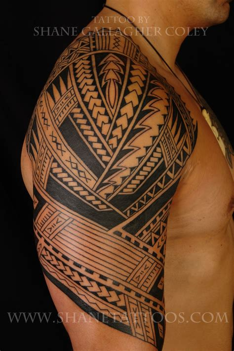 poly tribal tattoos maori polynesian polynesian sleeve to be continued