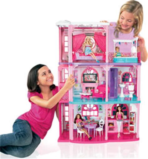 barbie doll dream house games amazon com barbie 3 story dream townhouse toys games