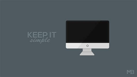 Keep It Simple   Minimalist Wallpaper by MartinBerthelsen on DeviantArt