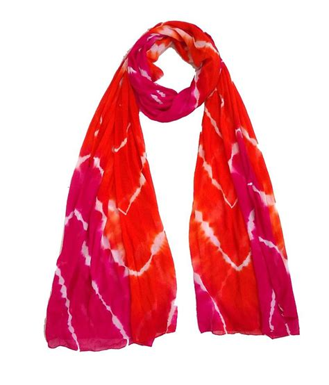 prithvi an online hub of ethnic and exclusive home d 233 cor craftshub exclusive tie dye red pink semi chiffon