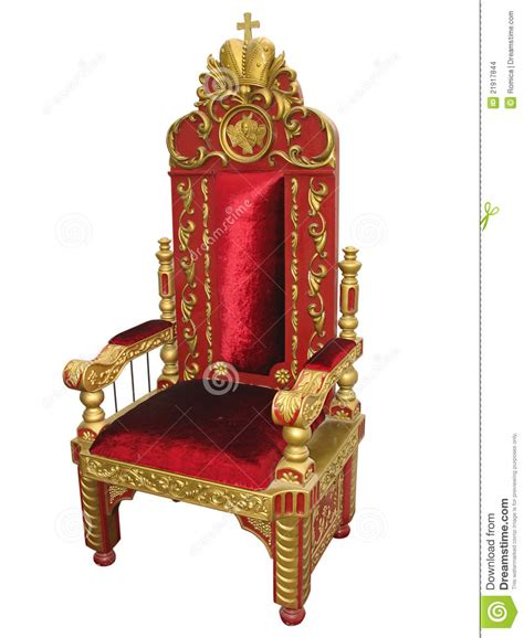 royal king royal king and golden throne chair isolated stock