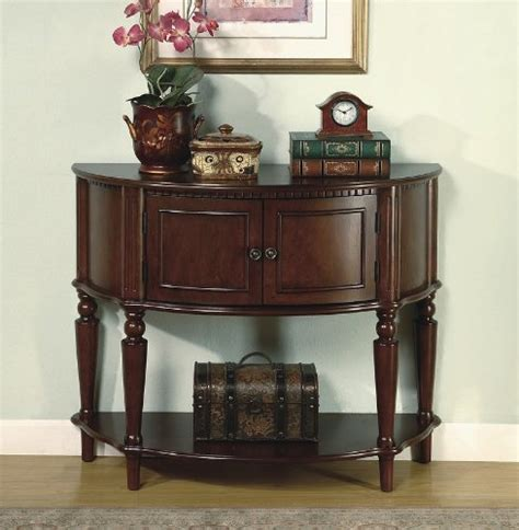 Brown Entry Table Brown Finish Storage Entry Way Console Table Table