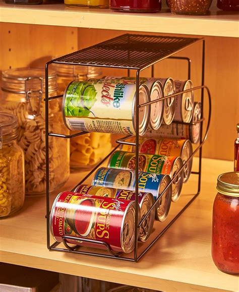 soda cans vegetable  soup   canned goods organizer