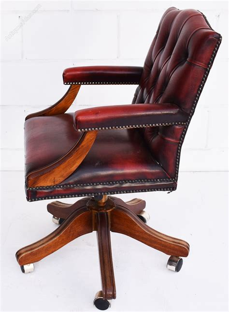 red leather desk antiques atlas vintage ox blood red leather desk chair