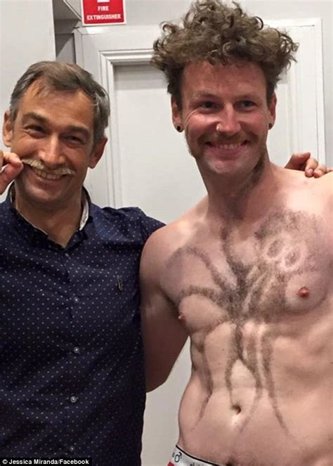 percentage of men in uk who shave body hair sydney man ross hoye grows a facial hair octopus for